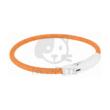 Világító nyakörv USB - Narancs