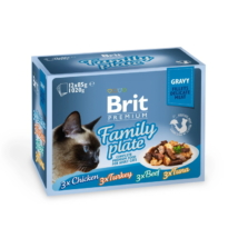 Brit Premium Cat Delicate Fillets in Gravy Family Plate