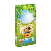 FRISKIES Junior Csirkével, hozzáadott zöldségekkel és tejjel száraz kutyaeledel