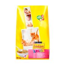 FRISKIES Junior Csirkével, tejjel és hozzáadott zöldségekkel