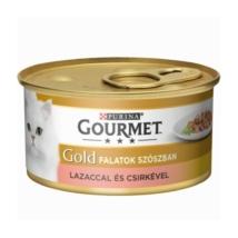GOURMET GOLD Lazaccal és csirkével szószban nedves macskaeledel