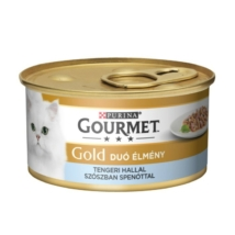 GOURMET GOLD Tengeri hallal szószban spenóttal duó élmény nedves macskaeledel