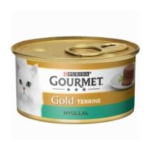 GOURMET GOLD Nyúllal terrine nedves macskaeledel