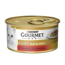 GOURMET GOLD Csirkével és marhával duó élmény nedves macskaeledel
