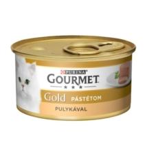 GOURMET GOLD Pulykával pástétom nedves macskaeledel