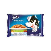 FELIX FANTASTIC Csirkével és paradicsommal/Marhával és sárgarépával aszpikban nedves macskaeledel