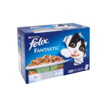 FELIX FANTASTIC Házias válogatás, zöldségekkel aszpikban nedves macskaeledel