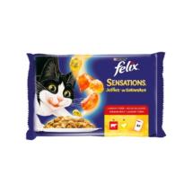 FELIX SENSATIONS JELLIES Házias válogatás aszpikban nedves macskaeledel