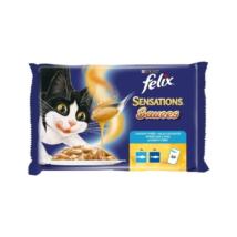 FELIX SENSATIONS SAUCES Halas válogatás szószban nedves macskaeledel