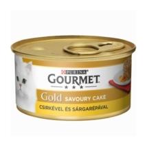 GOURMET GOLD Savoury Cake Csirkével és sárgarépával nedves macskaeledel