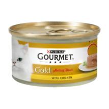 GOURMET GOLD Melting Heart Csirkével nedves macskaeledel