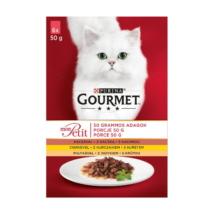 GOURMET MON PETIT Kacsával/Csirkével/Pulykával nedves macskaeledel 6x50g