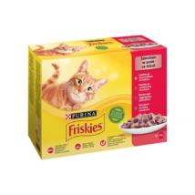 FRISKIES Szószban Marhával/Csirkével/Tonhallal/Tőkehallal nedves macskaeledel
