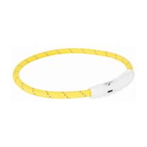 Világító nyakörv USB - Sárga