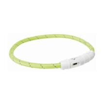 Világító nyakörv USB - Zöld