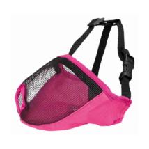 TRIXIE Textil hálós szájkosár rövid orrú kutyákra - Pink