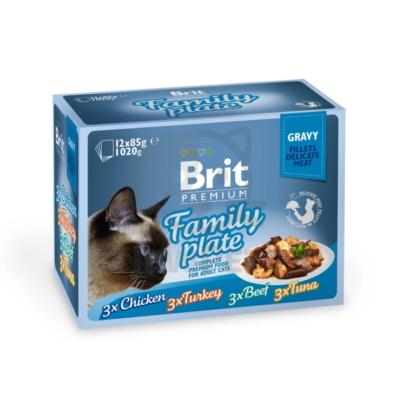 Brit Premium Cat Delicate Fillets in Gravy Family Plate