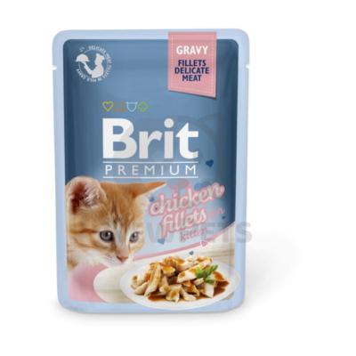 Brit Premium Cat Delicate Fillets in Gravy with Chicken for Kitten