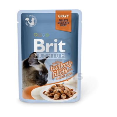 Brit Premium Cat Delicate Fillets in Gravy with Turkey
