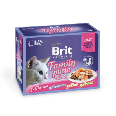 Brit Premium Cat Delicate Fillets in Jelly Family Plate