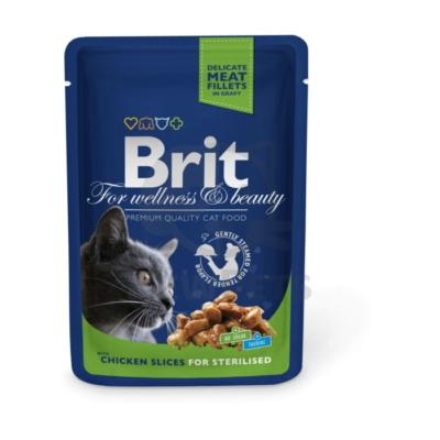 Brit Premium Cat Pouches Chicken Slices for Sterilised