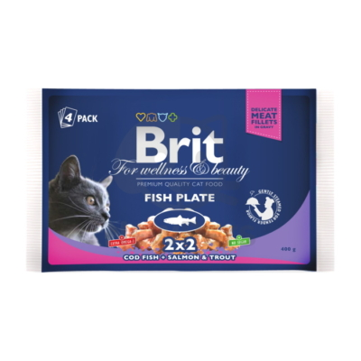 Brit Premium Cat Pouches Fish Plate