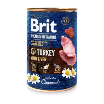 Brit Premium by Nature Junior Turkey with Liver