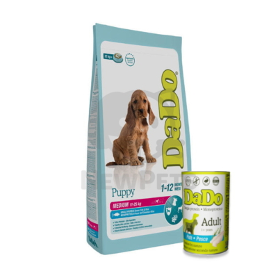 DADO Puppy Medium Breed Ocean Fish & Rice + Ajándék konzerv