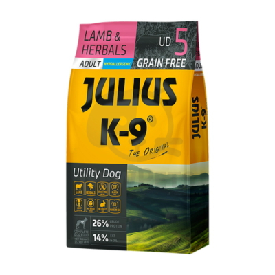 Julius-K9 Utility Dog Grain Free Adult Lamb & Herbals 10kg