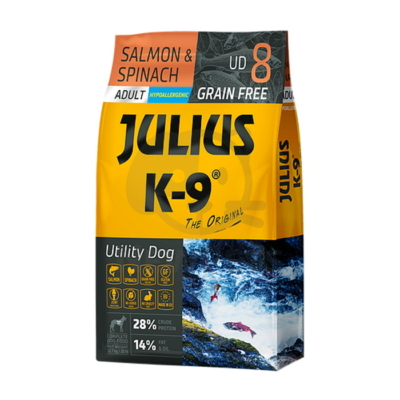 Julius-K9 Utility Dog Grain Free Adult Salmon & Spinach 10kg