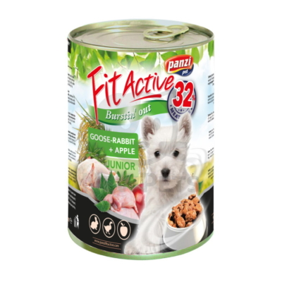 FitActive Junior Dog - Goose & Rabbit with Apple