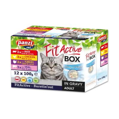 FitActive FIT-a-BOX - 4 féle húsos válogatás szószban