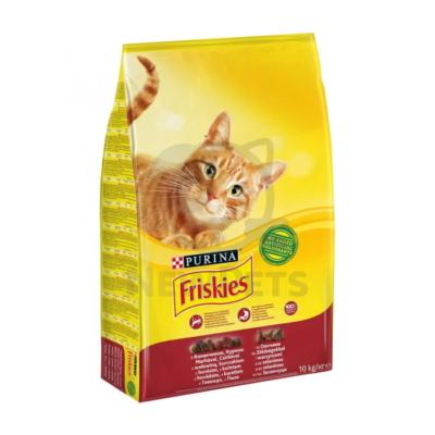 FRISKIES Marhával, csirkével és zöldségekkel száraz macskaeledel