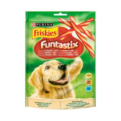 FRISKIES Funtastix Ízletes bacon és sajt ízesítésű kutya jutalomfalat