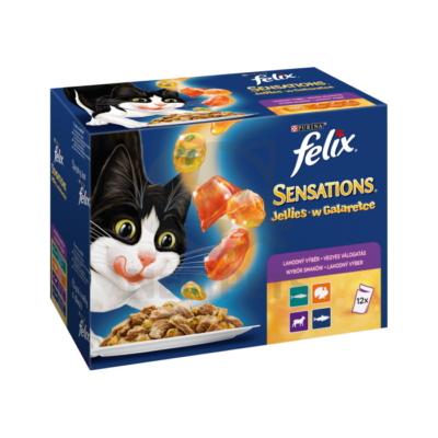 FELIX SENSATIONS JELLIES Vegyes válogatás aszpikban nedves macskaeledel