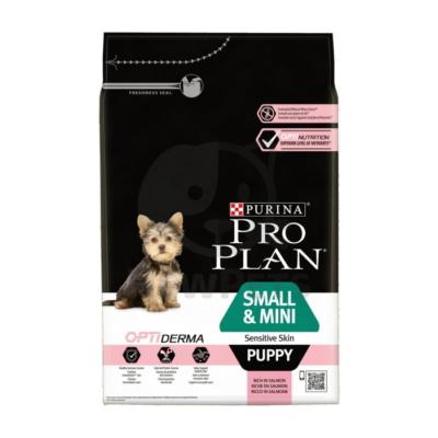 PRO PLAN Small & Mini Puppy OPTIDERMA lazacban gazdag