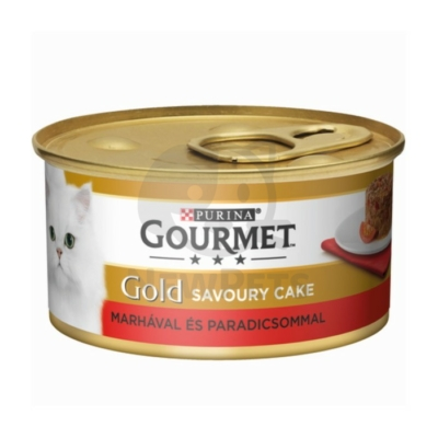 GOURMET GOLD Savoury Cake Marhával és paradicsommal nedves macskaeledel