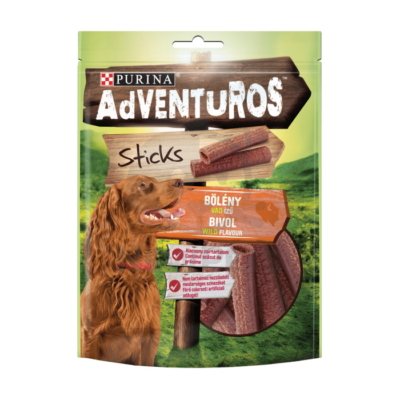 ADVENTUROS Sticks Bölény, vad ízű kutya jutalomfalat