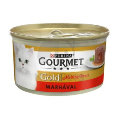GOURMET GOLD Melting Heart Marhával nedves macskaeledel