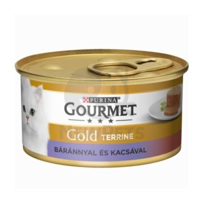 GOURMET GOLD Báránnyal és kacsával terrine nedves macskaeledel
