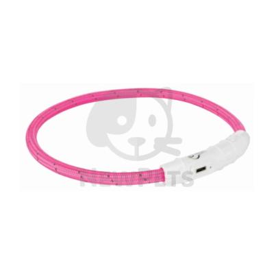 Világító nyakörv USB - Pink